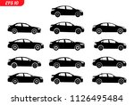 set of car silhouette  isolated ... | Shutterstock .eps vector #1126495484