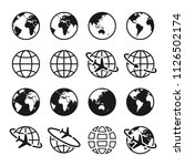 set of planet earth icons.... | Shutterstock .eps vector #1126502174