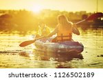 kayaking and canoeing with...   Shutterstock . vector #1126502189