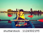 kayaking and canoeing with...   Shutterstock . vector #1126502195