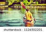 kayaking and canoeing with...   Shutterstock . vector #1126502201