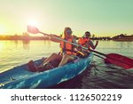 kayaking and canoeing with...   Shutterstock . vector #1126502219