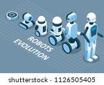 evolution of robots concept.... | Shutterstock .eps vector #1126505405