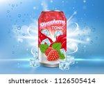 strawberry tonic poster  banner ...   Shutterstock .eps vector #1126505414