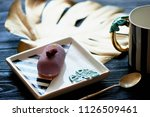 purple fruit mousse cake  on a... | Shutterstock . vector #1126509461