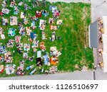 aerial view of people that... | Shutterstock . vector #1126510697