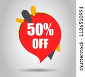 sale 50  off discount price tag ... | Shutterstock .eps vector #1126510991