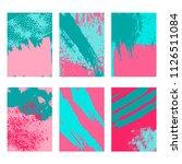 brush strokes  dynamic design.... | Shutterstock .eps vector #1126511084