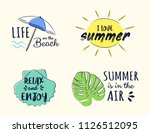 collection of funny pastel... | Shutterstock .eps vector #1126512095