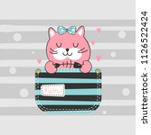 child illustration with a cute...   Shutterstock .eps vector #1126522424