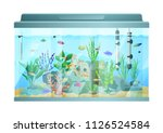 fish swimming among stones and... | Shutterstock .eps vector #1126524584