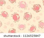 seamless underwater vector... | Shutterstock .eps vector #1126525847