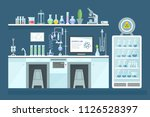scientific chemical laboratory  ... | Shutterstock .eps vector #1126528397