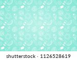 funny summer background with... | Shutterstock .eps vector #1126528619