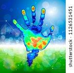 the concept of digital... | Shutterstock .eps vector #1126531451