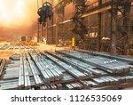 warehouse metal blank.... | Shutterstock . vector #1126535069