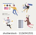 internet technology and... | Shutterstock .eps vector #1126541531