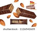 milk chocolate bar flavor and...   Shutterstock .eps vector #1126542635