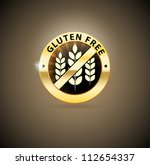 beautiful gluten free sign. can ... | Shutterstock .eps vector #112654337