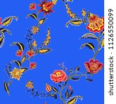 seamless pattern with indian... | Shutterstock .eps vector #1126550099