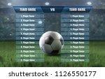 vector template of soccer... | Shutterstock .eps vector #1126550177