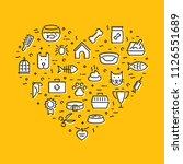 pet logo design template set.... | Shutterstock .eps vector #1126551689