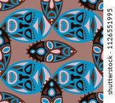 seamless background. african... | Shutterstock .eps vector #1126551995
