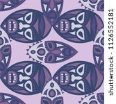 seamless background. african... | Shutterstock .eps vector #1126552181