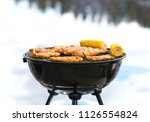 grilling at the beach. food... | Shutterstock . vector #1126554824