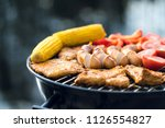 close up of food grilling on a...   Shutterstock . vector #1126554827