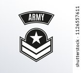 army badge. military patch with ... | Shutterstock .eps vector #1126557611