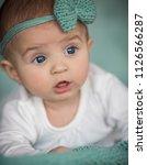 closeup portrait of  adorable... | Shutterstock . vector #1126566287