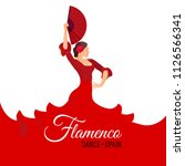 flamenco dance spain poster... | Shutterstock .eps vector #1126566341