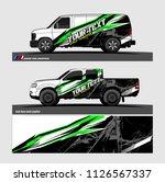 car decal design vector.... | Shutterstock .eps vector #1126567337