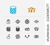 gambling icons set. gamble and...