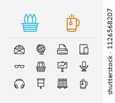workspace icons set. library...