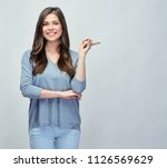 smiling young woman casual... | Shutterstock . vector #1126569629