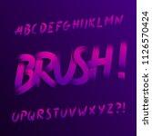 handwritten grunge alphabet... | Shutterstock .eps vector #1126570424