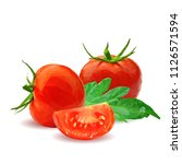 fresh  nutritious  tasty red... | Shutterstock .eps vector #1126571594