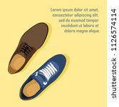 fashion poster of shoes vector | Shutterstock .eps vector #1126574114