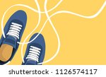 fashion poster of shoes vector | Shutterstock .eps vector #1126574117