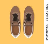 brown pair of shoes | Shutterstock .eps vector #1126574837