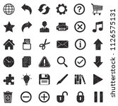 toolbar icons. black scribble... | Shutterstock .eps vector #1126575131
