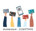 illustration of online payment... | Shutterstock .eps vector #1126575431