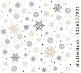 christmas pattern with... | Shutterstock .eps vector #1126577921