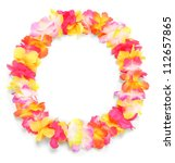 frame from flowers necklace.... | Shutterstock . vector #112657865