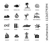 vacation icons set | Shutterstock .eps vector #1126579394