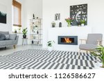 real photo of a patterned... | Shutterstock . vector #1126586627