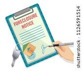 foreclosure vector illustration ... | Shutterstock .eps vector #1126591514