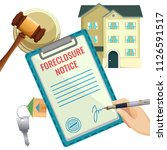 foreclosure process  house... | Shutterstock .eps vector #1126591517